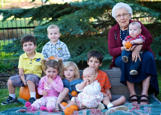 Grandma Annie and Great Grandkids
