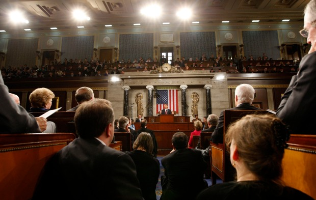 President Obama Addresses Joint Session Of Congress