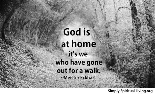 God is home