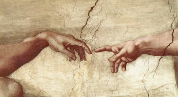 creation of man michaelangelo
