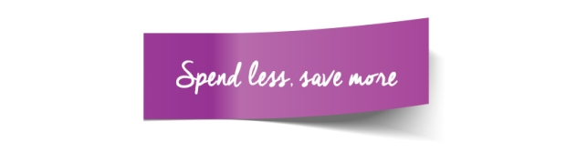 spend less save more