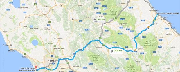 Pescara to Rome